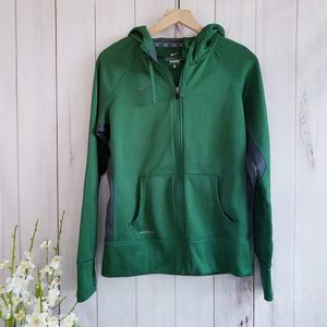 Nike Therma Fit Zip Up Hooded Green Jacket M